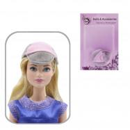 Кепка для кукол (серо-розовый)