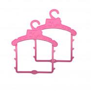 2 вешалки для больших пупсов (розовый)