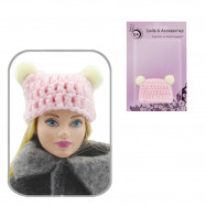 Шапка для кукол (светло-розовая)