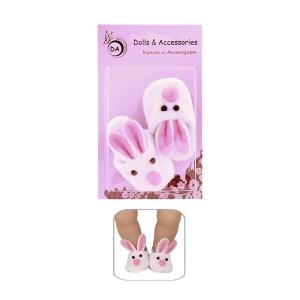 """Тапочки для Беби Бона 43 см. - """"Зайчата"""""""