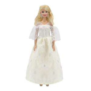 """Свадебное платье для Барби - """"Снежная роза"""""""