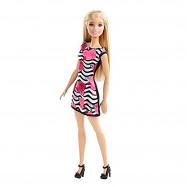"""Кукла Барби - """"Черно-белое платье с цветами"""""""