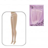 Колготки для Барби (бело-розовые)