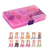 """12 пар обуви для Барби - """"Цветочный взрыв"""""""