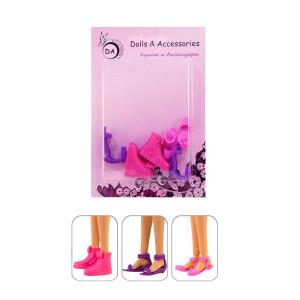 """3 пары обувь на плоской подошве для Барби - """"Кэжуал"""""""
