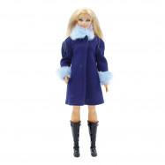 """Пальто для Барби Пышка (Curvy)- """"Ультрамарин"""""""