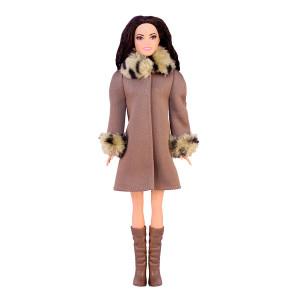 """Пальто для Барби - """"Леопардовое манто"""""""