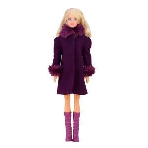 """Пальто для Барби - """"Королевский ирис"""""""