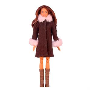 """Пальто для Барби - """"Клубника в шоколаде"""""""