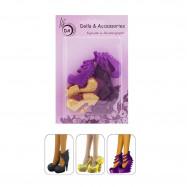 "3 пары обуви для Монстер Хай  - ""Яркие краски"""