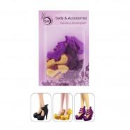 "3 пары обуви для Винкс - ""Яркие краски"""